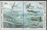 Маршалловы Острова  1993 год, История 2-й Мировой войны, Сражение в Море Бисмарка, квартблок.  (н57)