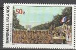 Маршалловы Острова 1994 год, История 2-й Мировой войны, Освобождение Парижа, 1 марка.  (н80)