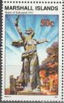 Маршалловы Острова 1992 год, История 2-й Мировой войны, Сталинград 1942 г., 1 марка.  (н50)