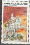Маршалловы Острова 1995, История 2-й Мировой, Бомбардировка Дрездена, 1 марка. (н87)