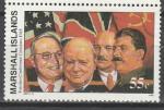 Маршалловы Острова 1995 год, История 2-й Мировой войны, Потсдамская Конференция, 1 марка. (н97)
