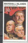 Маршалловы Острова 1995 год, История 2-й Мировой, Ялтинская Конференция, 1 марка.(н86)