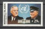 Маршалловы Острова 1992, История 2-й Мировой войны, Конференция в Аркадии  1942 г., 1 марка