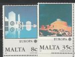 Мальта 1987 год, Европа, Архитектура, 2 марки.