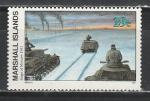 Маршалловы Острова 1991 год, История 2-й Мировой войны, Танки под Москвой 1941 г, 1 марка. (н24)