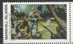 Маршалловы Острова 1994 год, История 2-й Мировой войны, Американцы на Сайфоне, 1 марка. (н76)