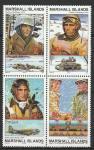 Маршалловы Острова 1994 год, История 2-й Мировой войны, Ардены, квартблок марок. (н85)