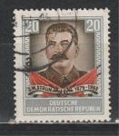 ГДР 1954 год, И. Сталин, 1 гашёная марка