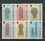 Мэн 1978 год. Европа СЕПТ. Древние памятники. 6 марок сцепки