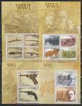 1я Мировая Война, Оружие, Палау 2014, 2 малых листа + 2 блока