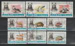 Аджман 1965 г, Фауна, 9 гашёных марок.