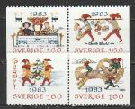 Швеция 1983, Новый Год, Рождество, 2 пары марок)