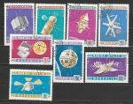 Космические Аппараты, Монголия 1966 г, 8 гашёных марок Ю