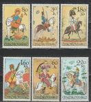 ЧССР 1972 год, Конные Игрушки, 6 марок.