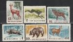 Болгария 1958 г., Фауна, 6 марок. наклейки