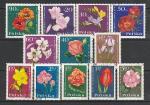 Цветы, Польша 1964 год, 12 гашеных марок