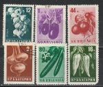 Овощи, Болгария 1958 год, 6 гашёных марок