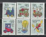 ГДР 1980, История Игрушки, 6 марок)