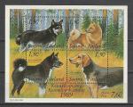 Финляндия 1989 год, Собаки, блок.