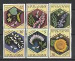 Цветы, Насекомые, Болгария 1987 год, серия 6 марок. ((