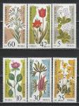 Цветы, Болгария 1989 г, 6 марок