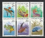 Рыбки, Венгрия 1987 г, 6 марок. (н