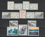 Фареры (Дания) 1975 г, Стандарт, Карты, Ландшафты, 14 марок