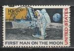 Первый Человек на Луне, США 1969, 1 гаш. марка