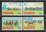 Барбадос 1969 год. Скачки. 4 марки.
