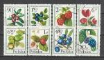 Ягоды, Польша 1977 год, 8 гашёных марок