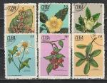 Цветы, Ягоды, Куба 1970 год, 6 гашёных марок