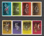 8 лет Революции, Куба 1967 год, 8 гашёных марок. сцепки
