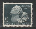 Рейх 1942 год. День памяти павших. 1 гашеная марка