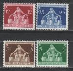 Рейх 1936 год, Женщина с Детьми, 4 марки. наклейки