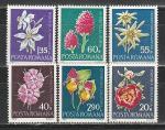 Румыния 1972 г, Цветы, 6 марок.