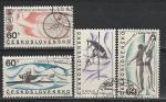 Спорт, ЧССР 1967 год, 4 гашеных марки