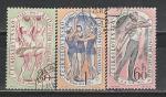 Спартакиада, Художественная Гимнастика, ЧССР 1960, 3 гаш. марки