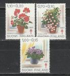 Финляндия 1981 год, Комнатные Цветы, 3 марки