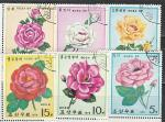 Розы, КНДР 1979 год, 6 гашёных марок