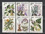 Лекарственные Растения, Польша 1980 год, 6 гашёных марок