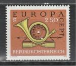 Австрия 1973, Европа Септ, Почтовый Рожок, 1 марка)