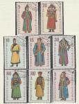 Национальные Костюмы, Монголия 1969 год, 8 гашёных марок