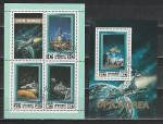 Космос, КНДР 1982 год, 2 гашеных блока