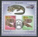 Гвинея-Бисау 2010 год, Аллигатор, гашёный блок .