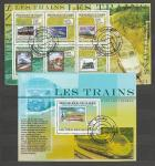 Гвинея 2009 год, Локомотивы на Марках, гашёный малый лист + блок