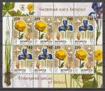 Цветы, Беларусь 2003 г, малый лист.