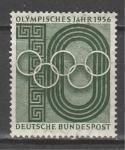 Олимпийский Год. ФРГ 1956 год, 1 марка