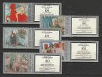 СССР 1978 г, Живопись, Петров - Водкин, 5 марок с купоном справа
