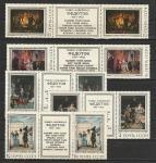 СССР 1976, Живопись, Федотов, 5 сцепок с купоном посредине