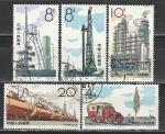 Нефтедобыча, Китай 1964 год, 5 гашёных марок.